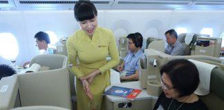 Dịch vụ ăn uống hạng thương gia của vietnam Airlines