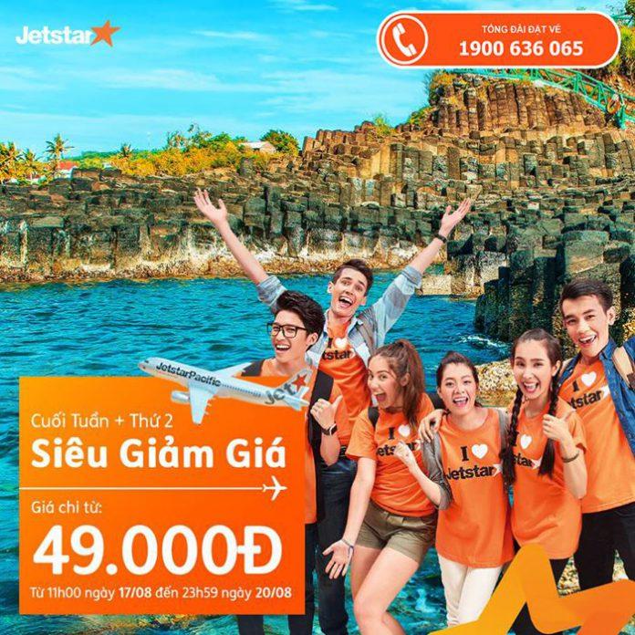 Ưu đãi từ Jetstar giá vé một chiều từ 49.000