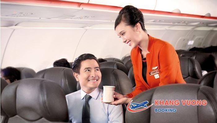 Có thể lựa chọn nhiều loại đồ uống của Jetstar Pacific