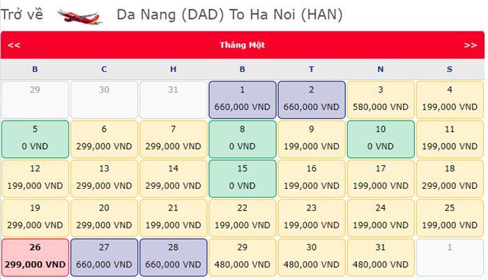 Vé máy bay 0 đồng đi Hà Nội