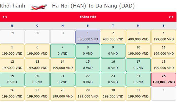 Vé 0 đồng Hà Nội Đà Nẵng