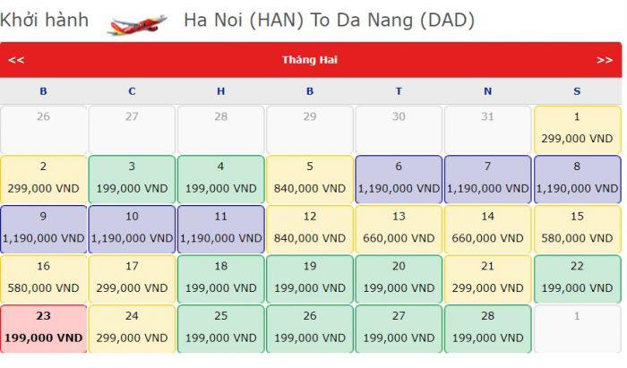 Vé Máy bay 0 đồng từ Hà Nội đi Đà Nẵng