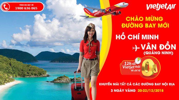 Kết nối Hồ Chí Minh – Vân Đồn với 2,2 triệu vé máy bay 0 đồng từ Vietjet Air