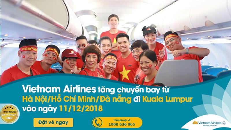 Vietnam Airlines cung ứng hơn 1.100 đưa CĐV Việt Nam xem chung kết AFF Cup