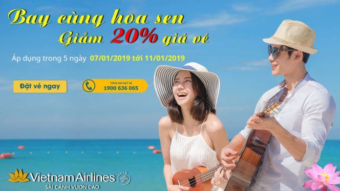 Ưu đãi từ Vietnam Airlines giảm 20% các chặng bay quốc tế