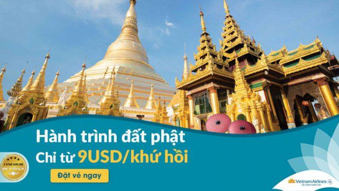 Chỉ 9 USD kết nối đất phật cùng Vietnam Airlines