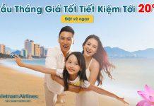Vietnam Airlines giảm đến 20% giá vé máy bay đầu tháng 4