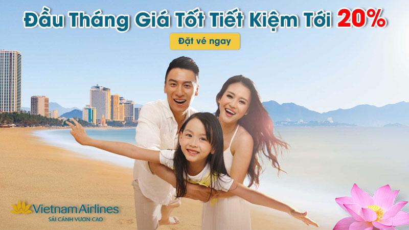 Vietnam Airlines giảm 20% giá vé máy bay trong 5 ngày vàng