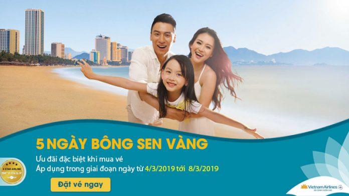 Vé máy bay Vietnam Airlines giảm 20% trong 5 ngày vàng