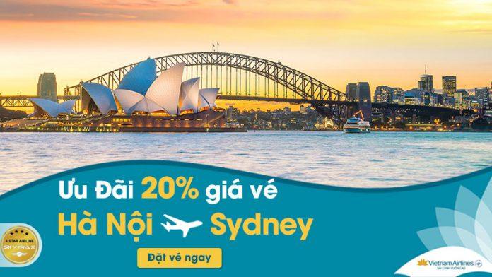 Vietnam Airlines khuyến mãi giảm 20% giá vé máy bay Hà Nội đi Sydney