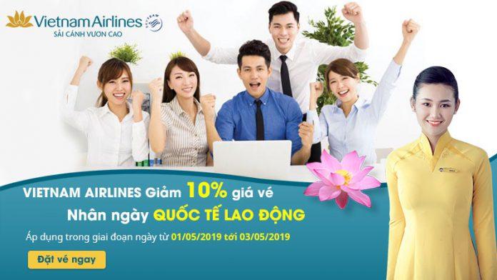 Vietnam Airlines khuyến mãi giảm 10% giá vé máy bay