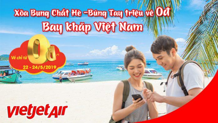 Búng tay có ngay vé 0 đồng khuyến mãi hấp dẫn từ Vietjet