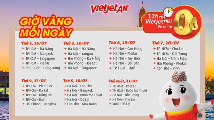 Ngập tràn khuyến mãi vé máy bay 0 đồng từ Vietjet trên tất cả đường bay