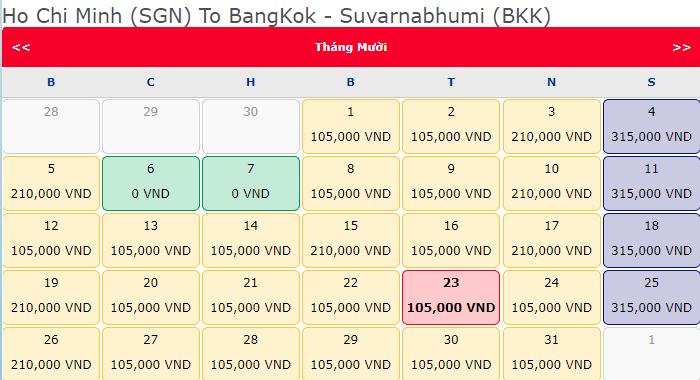 Hàng triệu vé 0 Đồng khuyến mãi hành trình Hồ Chí Minh đi Bangkok