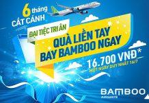 Mừng 6 tháng cất cánh Bamboo Airways mở đại tiệc khuyến mãi