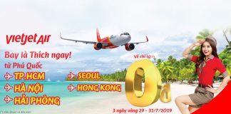 3 ngày vàng khuyến mãi 0 đồng từ Vietjet Air