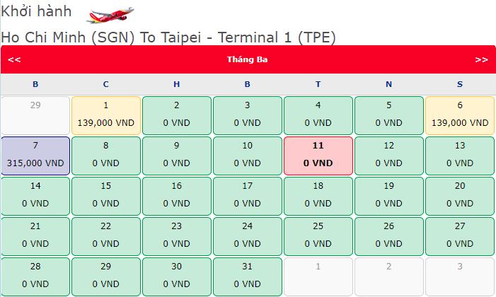 Vé 0 Đồng cùng Vietjet bay khắp Đài Loan
