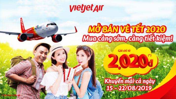 Vietjet mở bán vé tết 2020 khuyến mãi siêu tiết kiệm chỉ từ 2.020 VND