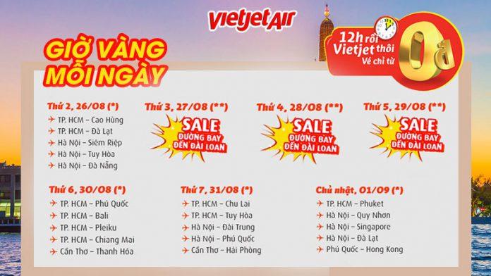 Du ngoạn thả ga với hàng ngàn vé 0 đồng từ Vietjet Air