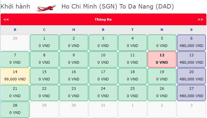 12 giờ săn vé khuyến mãi 0 đồng Hồ Chí Minh đi Đà Nẵng Vietjet