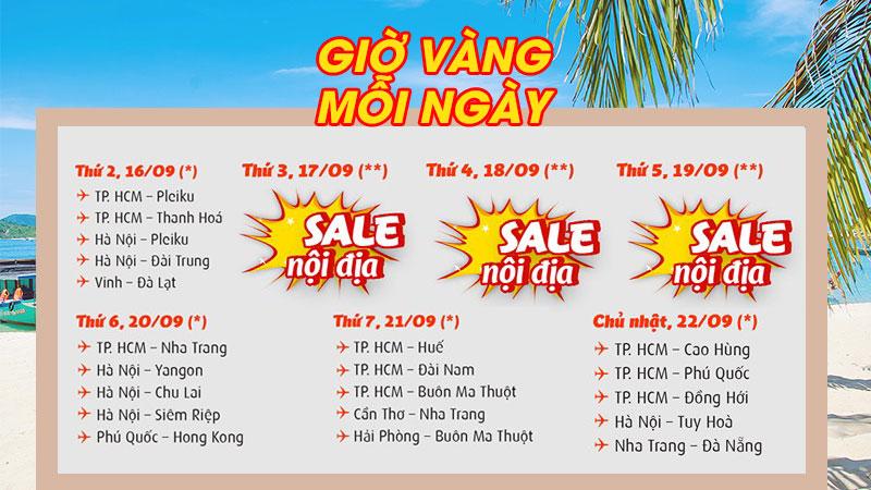 Săn vé khuyến mãi Vietjet Air khám phá vẻ đẹp Việt Nam