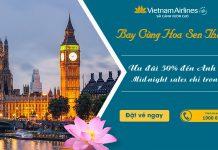 Ưu đãi lớn từ Vietnam Airlines giảm 50% giá vé máy bay đi London