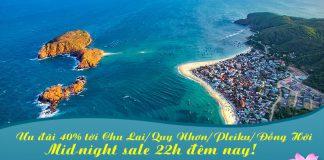 Siêu ưu đãi Mid-night Sales của Vietnam Airlines giảm 40% giá vé