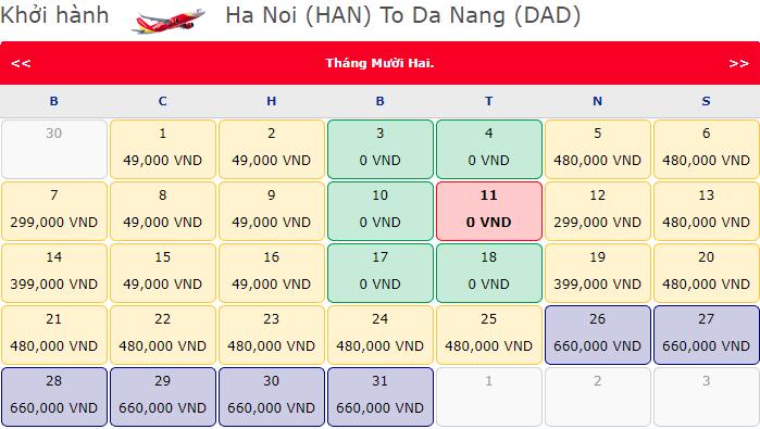 Vietjet khuyến mãi vé 0 đồng hành trình Hà Nội đi Hồ Chí Minh