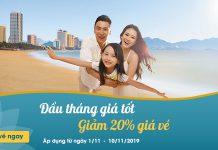 Khuyến mãi đầu tháng 11 giảm 20% giá vé Vietnam Airlines