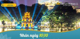 Khuyến mãi ngày 10/10 Vietnam Airlines giảm 10% giá vé