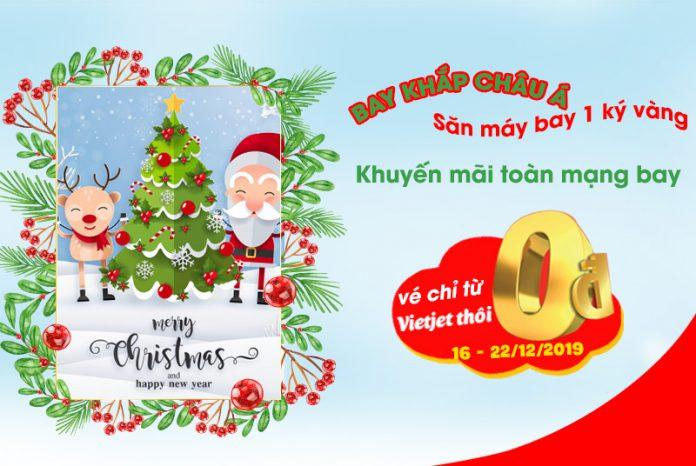 5 triệu vé 0 đồng khuyến mãi Giáng Sinh từ Vietjet Air