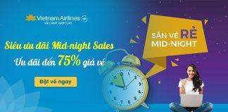 Siêu khuyến mãi Vietnam Airlines giảm 75% giá vé