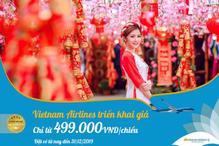 Khuyến mãi vé máy bay Tết 2020 Vietnam Airlines chỉ 499.000 VND