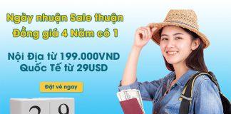 """Khuyến mãi """" ngày nhuận sale thuận đồng giá 4 năm có 1"""" Vietnam Airlines"""
