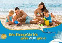 Khuyến mãi giảm 20% giá vé đầu tháng giá tốt từ Vietnam Airlines