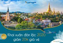 Khuyến mãi khai xuân Vietnam Airlines giảm 20% giá vé