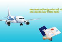 Thông báo: Quy định xuất nhập cảnh đối với các chuyến bay từ Hàn Quốc