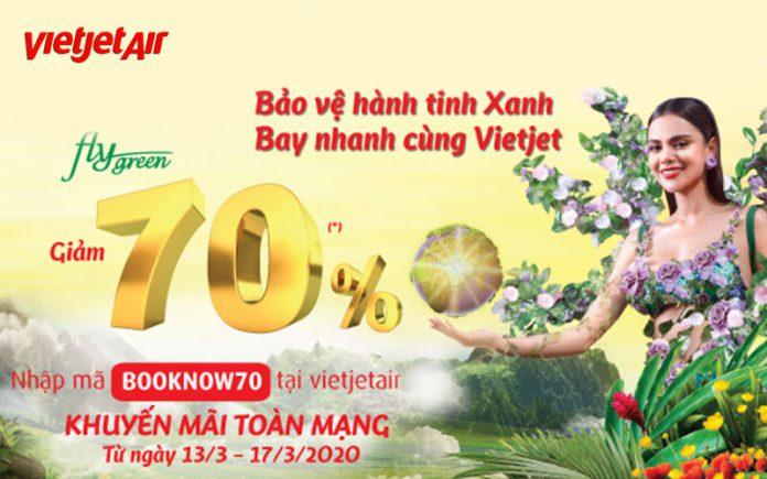 Bay nhanh cùng Vietjet Air khuyến mãi giảm 70% giá vé