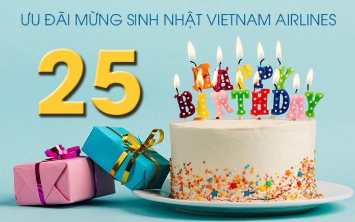 Kỷ niệm 25 năm Vietnam Airlines khuyến mãi giảm 25% giá vé