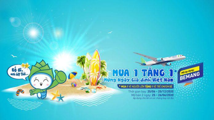 Khuyến mãi vé máy bay Bamboo Airways mua 1 tặng 1