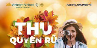 """Khuyến mãi """"đón thu quyến rũ"""" Vietnam Airlines giá vé chỉ từ 69.000 VND"""