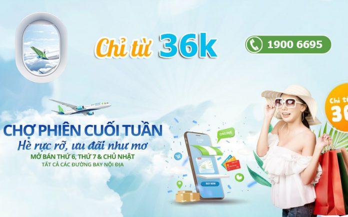 Bamboo Airways khuyến mãi vé máy bay chỉ từ 36.000 VND