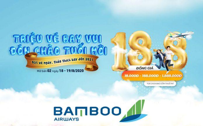 Khuyến mãi mừng tuổi mới Bamboo Airways tung triệu vé máy bay