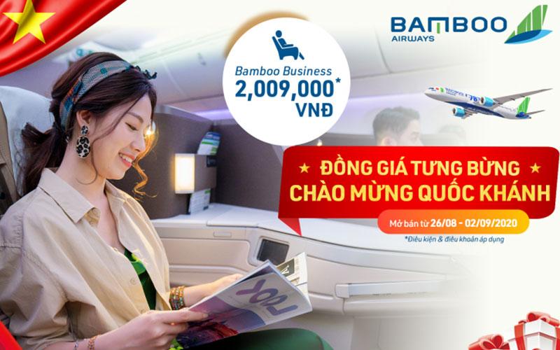 Mừng Quốc Khánh Bamboo Airways khuyến mãi chỉ từ 29.000 VND