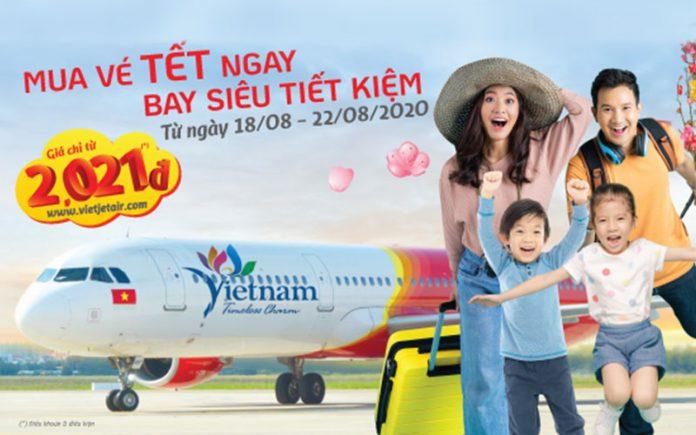 Săn khuyến mãi vé máy bay Tết siêu tiết kiệm từ Vietjet Air