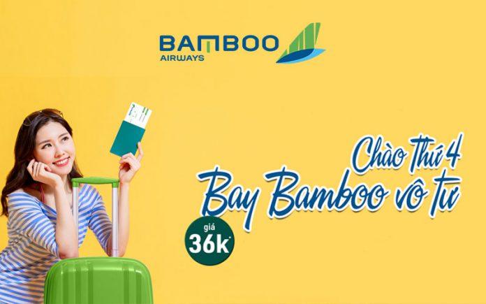 Bamboo Airways khuyến mãi chào thứ 4 vé máy bay chỉ từ 36.000 VND