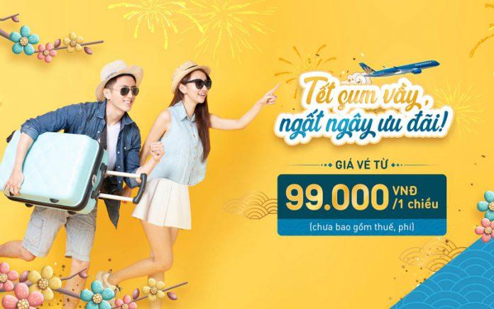 Vé máy bay Tết khuyến mãi Vietnam Airlines chỉ từ 99.000 VND