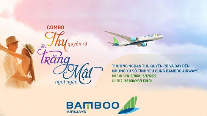 """Khuyến mãi """"Thu quyến rũ"""" và """"Trăng mật ngọt ngào"""" Bamboo Airways"""