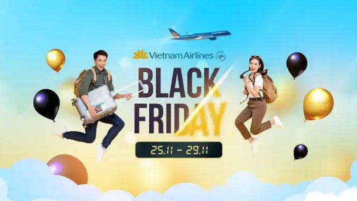Black Friday Vietnam Airlines khuyến mãi giảm 15% giá vé