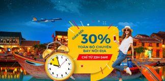Vietnam Airlines giảm 30% giá vé khuyến mãi Mid – Night Sales